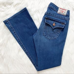 True Religion Becky Bootcut Flap Pocket Jeans